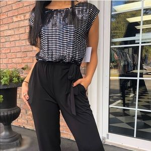 Black jumper with sparkle detail